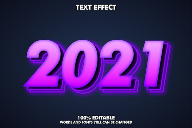 2021 현대 반짝 텍스트 효과