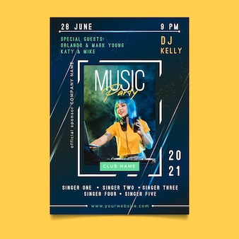 2021 music event poster concept