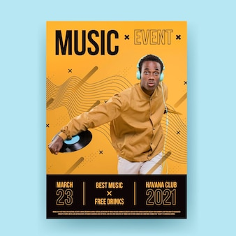 2021 music event poster template theme