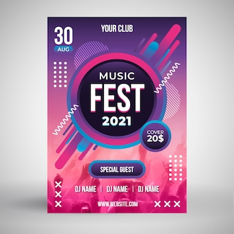 2021 music event poster