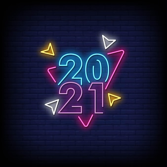 2021 neon signs style text
