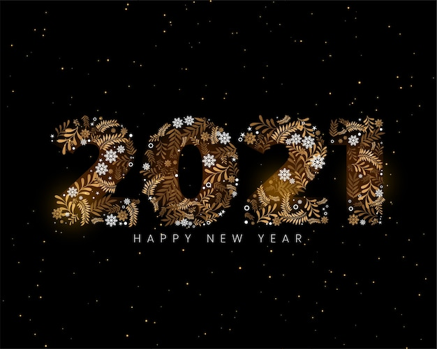 2021 new year background in christmas decorative element style