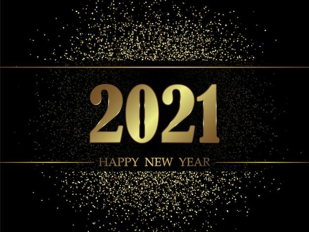 Новогодний фон 2021 года с золотыми числами