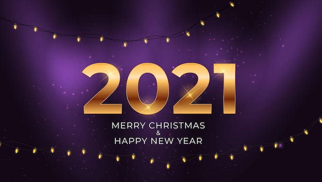 2021 new year and merry christmas background with glossy fireworks