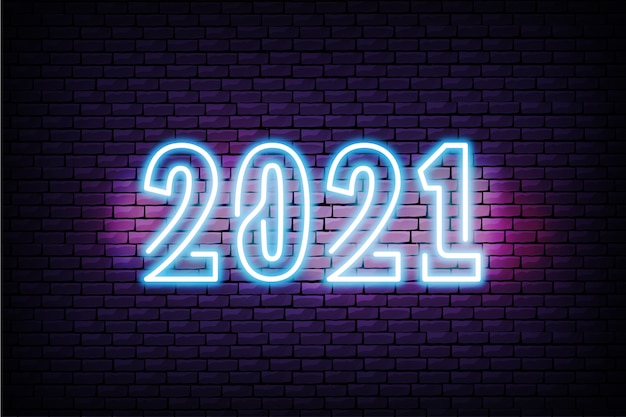 2021 realistic neon design