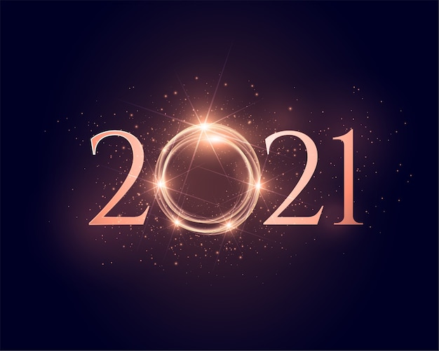 2021 shiny sparkling new year glowing background