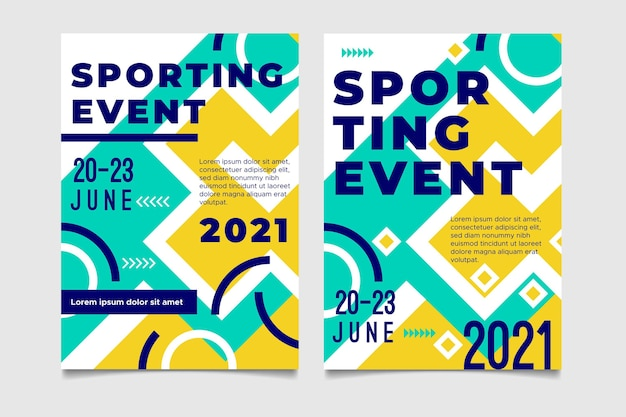 2021 концепция спортивного плаката