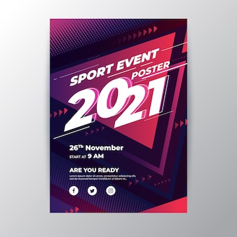 2021 sporting event poster concept