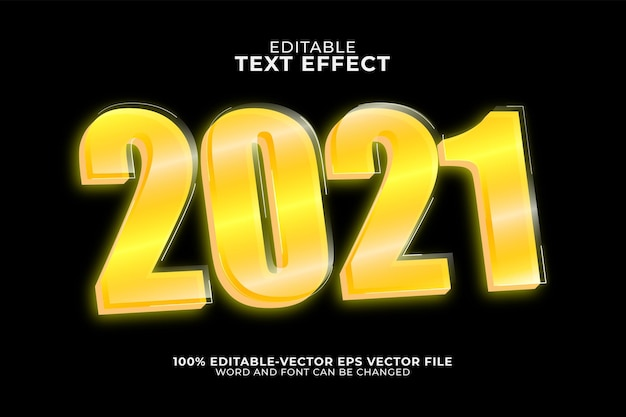 2021 text effect template