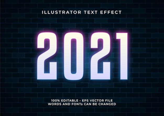 2021 text effect