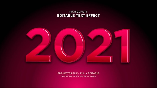 2021 text style effect.