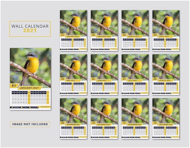 2021 wall calendar design