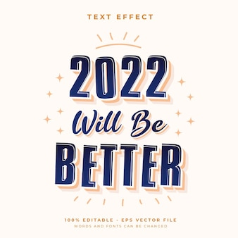 2021 will  be better text effect