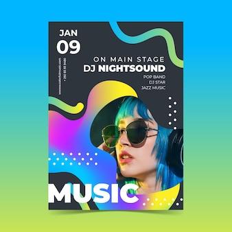 Афиша музыкального события 2021 с фотографией