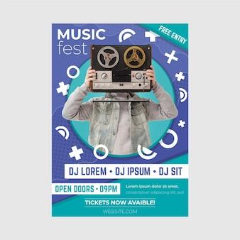 2021 шаблон постера музыкального события
