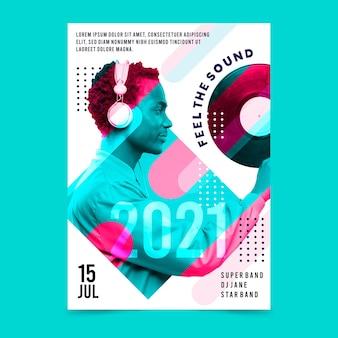Афиша музыкального события 2021 года с фотографией