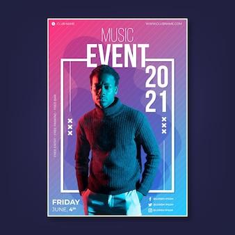 写真付き2021音楽イベントポスター
