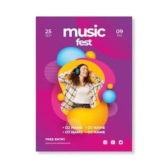 抽象的な2021音楽イベントポスター