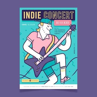 2021 иллюстрированный плакат фестиваля музыки