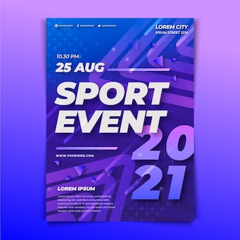 Шаблон постера спортивного мероприятия на 2021 год