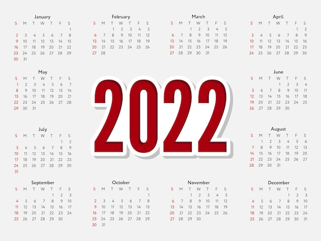 2022 christmas lettering golden new year sketch calendar week starts on sunday.