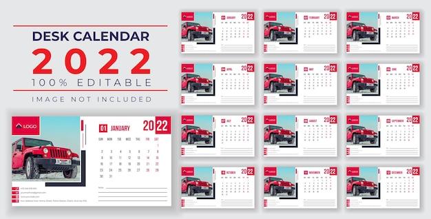 2022デスクカレンダーデザインepsまたはソーシャルメディアポスト2022デスクカレンダーデザイン勝利者テンプレート