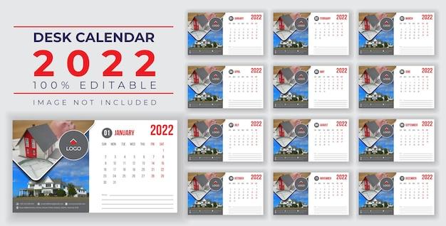 Настольный календарь на 2022 год, шаблон victor, баннер eps или дизайн в социальных сетях