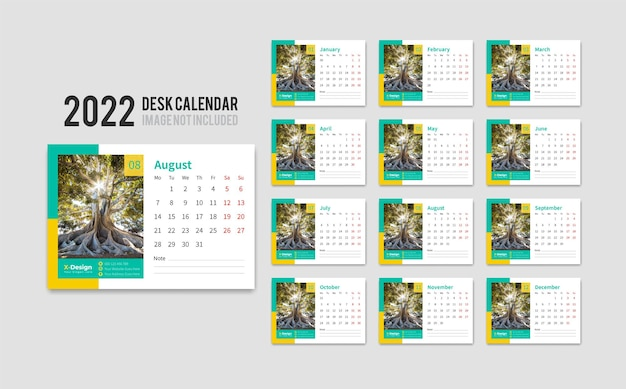 2022 desk pad calendar