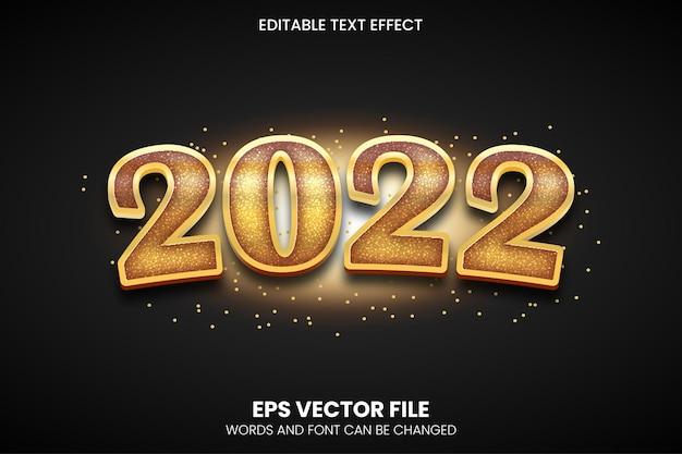 2022 편집 가능한 황금 텍스트 효과 eps 벡터