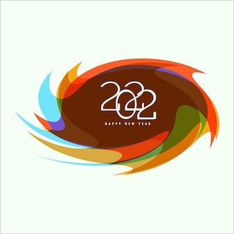 2022 happy new year 3d papercut style background