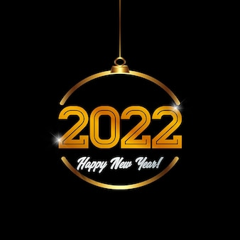 2022 happy new year 3d style background