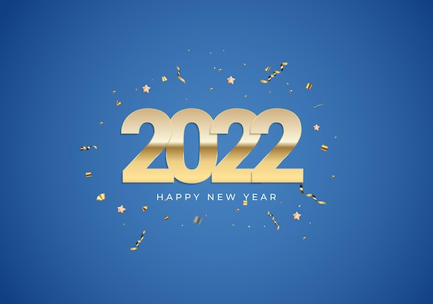 2022  happy new year background poster template vector illustration