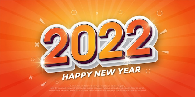 2022 happy new year banner with a festive theme