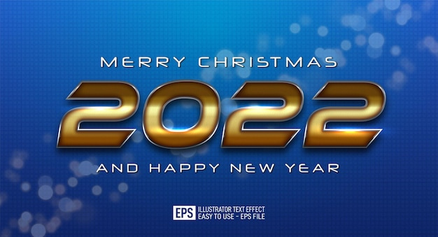 2022 happy new year elegant design on a blue color background
