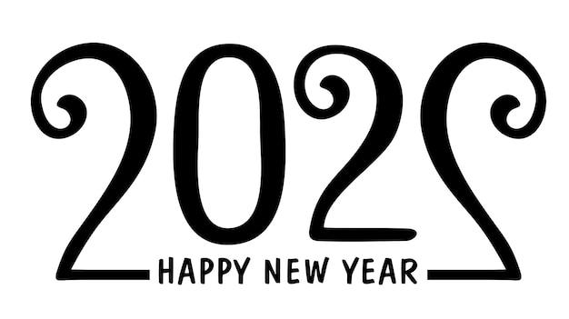 Дизайн приветствия с новым годом 2022 года. текст сценария 2021 года ручной надписи. шаблон оформления празднование типографии плакат, баннер или поздравительная открытка для счастливого рождества и счастливого нового года. векторные иллюстрации