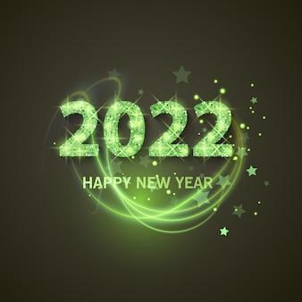 2022 с новым годом поздравительный баннер новый год 2022 с сияющей и блестящей текстурой