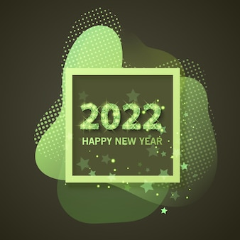 2022 happy new year greeting banner new year 2022 with shining and glitter texture
