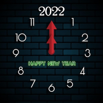 2022 happy new year. numbers 3d style. vector linear numbers. design of greeting cards. vector illustration. free vector.