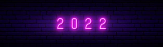 2022 neon sign