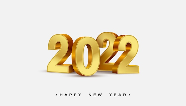 2022 new year 3d rendering