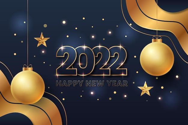 Banner di celebrazione del nuovo anno 2022