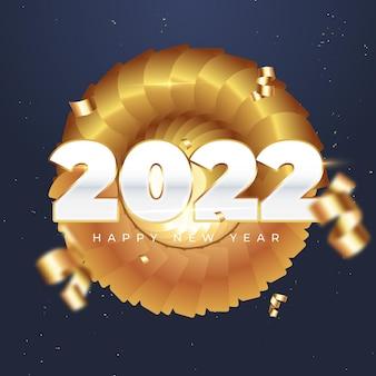 Празднование нового 2022 года золотой пост в instagram и facebook