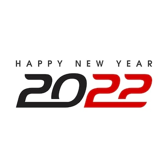 2022 new year icon vector illustration design template