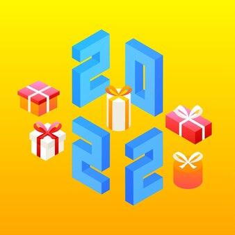 2022年の新年のプレゼント。数字記号等長写像のベクトル図。