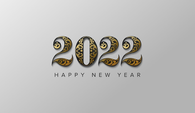 2022 new year with beauty black number