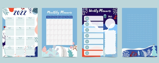 2022 table calendar week start on sunday with winter,landscape that use for vertical digital and printable a4 a5 size