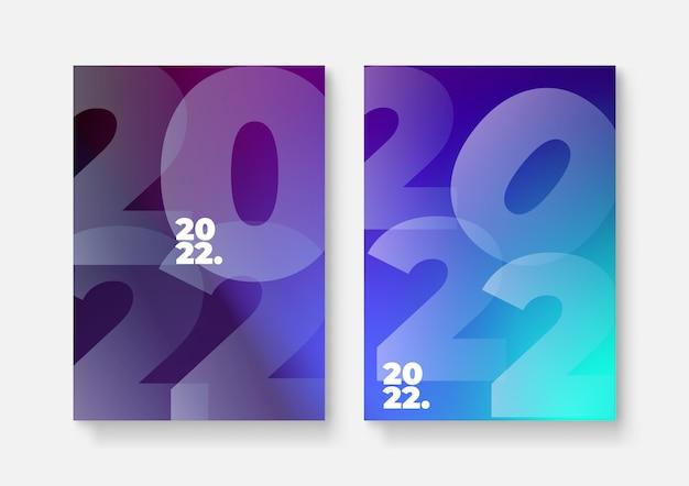 2022 шаблон дизайна с копией пространства. сильная типографика. красочный и легко запоминающийся. дизайн для брендинга, презентации, портфолио, бизнеса, образования, баннера. вектор, иллюстрация