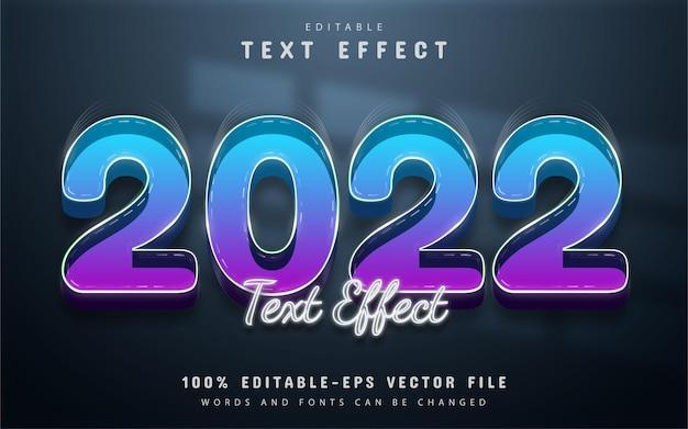 2022 text effect editable gradient 3d style