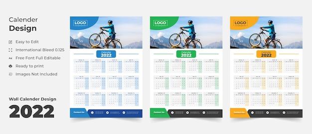 2022 настенный календарь шаблон расписание календарь годовой бизнес-планировщик расписание календарь событий