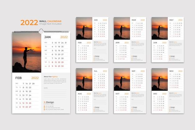2022 wall calendar template schedule calendar yearly business planner timetable events calendar